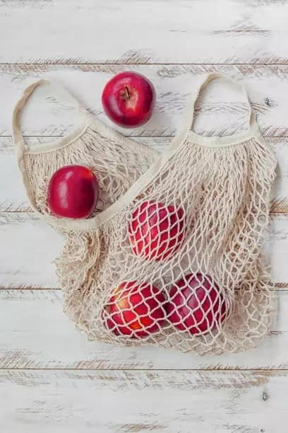 Carry your Cotton Produce Mesh Bags for Grocery