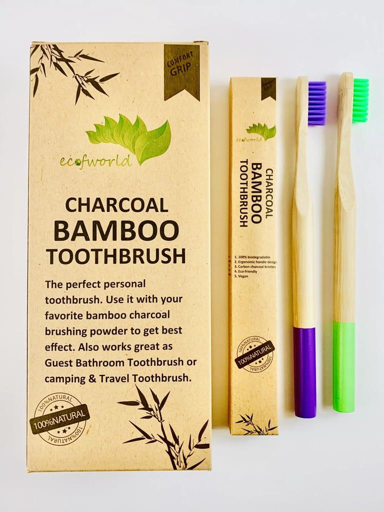 ecofworld round handle bamboo toothbrush bamboo panda toothbrush, the bamboo toothbrush, sprmal, bpa free nylon, my magic mud bamboo toothbrush
