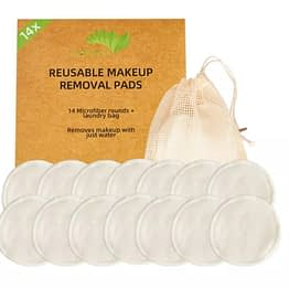 ecofworld bamboo cotton makeup remover soft pads