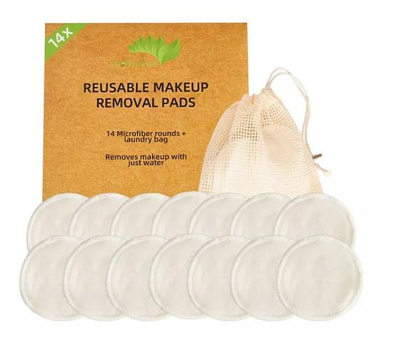 ecofworld bamboo cotton makeup remover soft pads