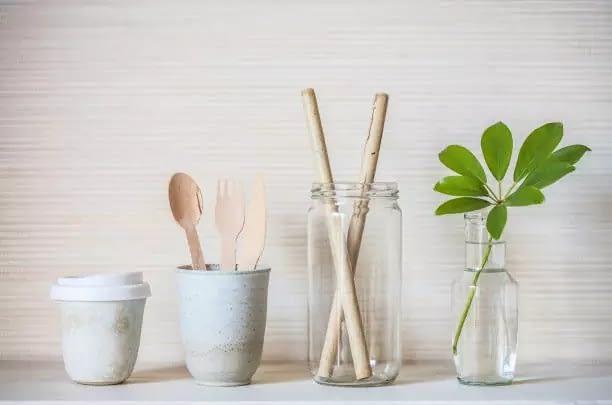 bamboo straws eco friendly cutlery sets