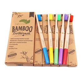 ecofworld round handle zero waste bamboo toothbrush
